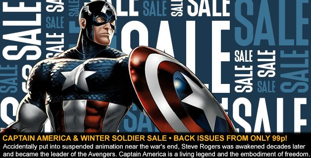 SALE • CAPTAIN AMERICA AND THE WINTER SOLDIER BACK ISSUES FROM ONLY 99p!