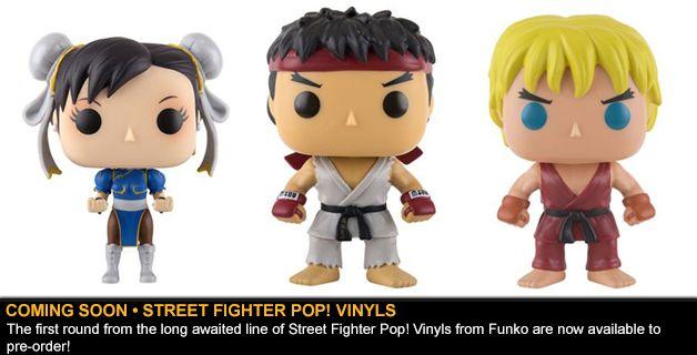 COMING SOON • STREET FIGHTER POP! VINYL FIGURES