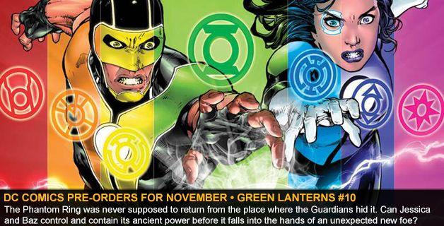 DC COMICS PRE-ORDERS FOR NOVEMBER • GREEN LANTERNS #10