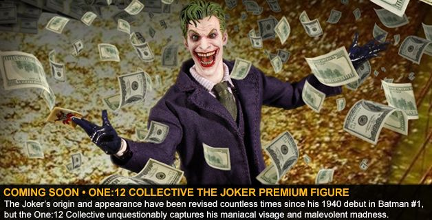 COMING SOON • ONE:12 COLLECTIVE THE JOKER PREMIUM FIGURE