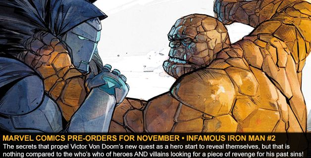 MARVEL COMICS PRE-ORDERS FOR NOVEMBER • INFAMOUS IRON MAN #2