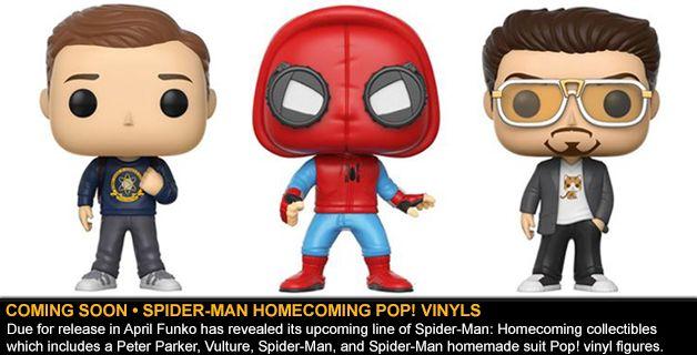 COMING SOON • SPIDER-MAN HOMECOMING POP! VINYL FIGURES